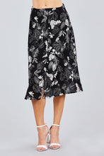 Load image into Gallery viewer, Tulip Sleeve Off The Shoulder Button Down Crop Top And Button Down Midi Skirt Set - crespo-cynergy