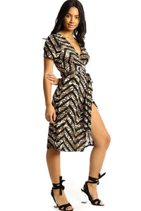 Wrapped Style Midi Dress - crespo-cynergy