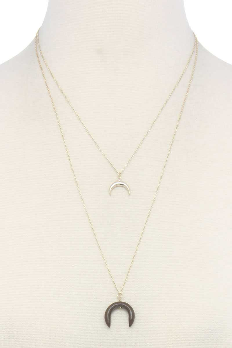 Double Crescent Moon Necklace - crespo-cynergy