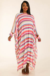 Multi Stripe Woven Cover Up - crespo-cynergy