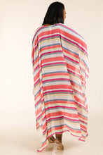 Load image into Gallery viewer, Multi stripe woven cover up - crespo-cynergy