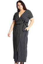 Load image into Gallery viewer, Elegant Plunging Neckline Maxi Dress