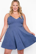 Load image into Gallery viewer, Plus size evening skater mini dress - crespo-cynergy