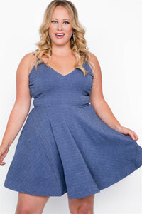 Plus size evening skater mini dress - crespo-cynergy