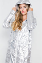 Load image into Gallery viewer, Metallic Lightweight Zip-up Jacket - crespo-cynergy