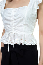 Load image into Gallery viewer, Embroidered Ruffle Cropped Top - crespo-cynergy
