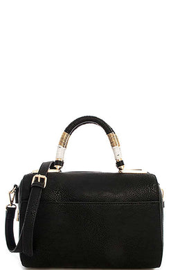 Cute Stylish Moroccan Top Handle Boston Bag With Long Strap - crespo-cynergy