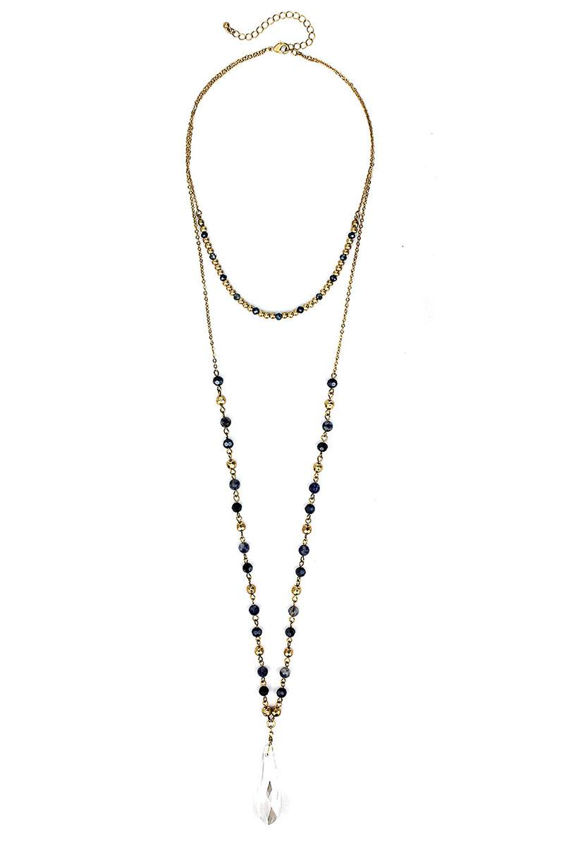 Fashion Modern Chic Crystal Drop Necklace - crespo-cynergy