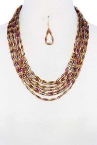 Beaded Multi Layered Necklace - crespo-cynergy
