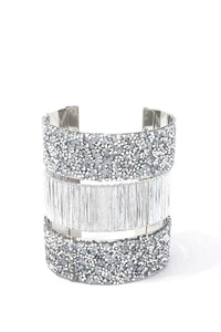 Textured Beaded Cuff Bracelet - crespo-cynergy