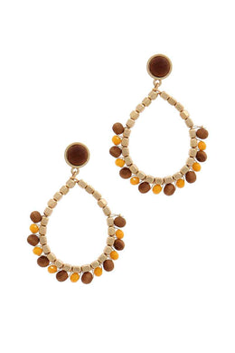 Circle Beaded Post Drop Earring - crespo-cynergy