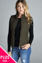 Load image into Gallery viewer, Quilted Padding Vest With Suede Piping Details - crespo-cynergy