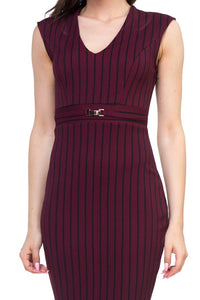 Stripe Belted Dress - crespo-cynergy
