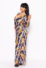 Load image into Gallery viewer, Elegant Maxi Dress With A Waist Tie - crespo-cynergy