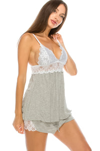 Super Soft & Lace Sleep Set - crespo-cynergy