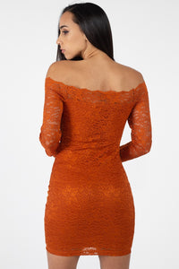 Floral Lace Off Shoulder Dress - crespo-cynergy