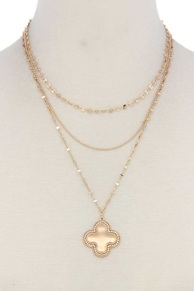Cross Charm Y Shape Layer Necklace - crespo-cynergy