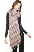 Load image into Gallery viewer, Multi Striped Fringed Scarf