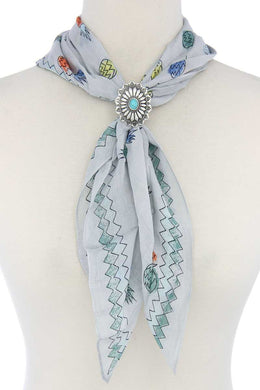 Concho Scarf Slide