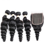 Brazilian 4 Bundle Deal W/Closure - Hair Fetish Studio The Collection