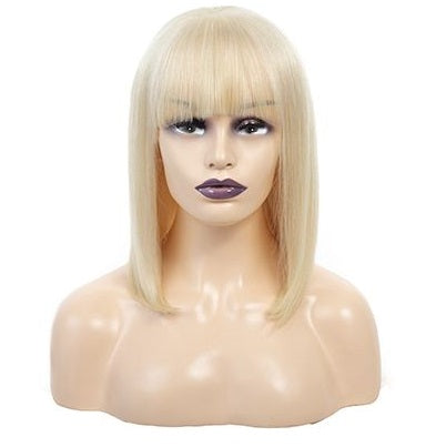 Diamond 613 Blonde Lace Frontal Bob Wig With Bangs - Hair Fetish Studio The Collection