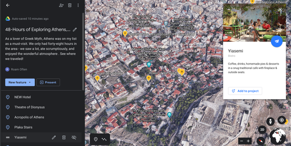 Google Earth Tour of Athens Greece Created by Roam Often