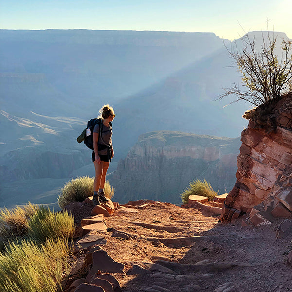 Girl Traveling in Grand Canyon