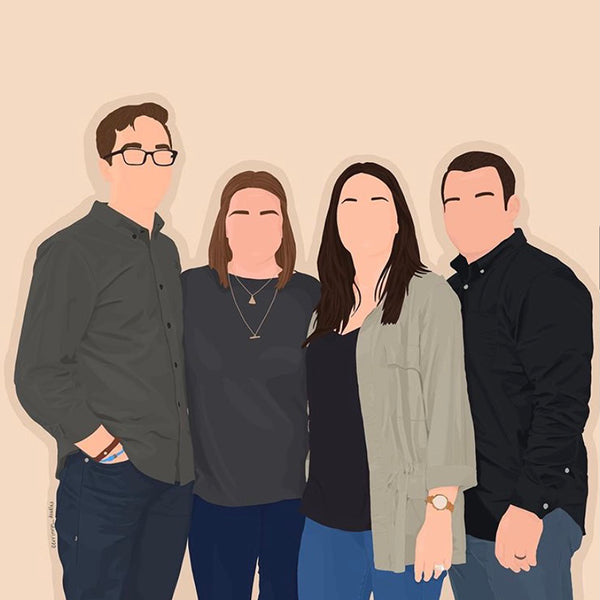 Mother's Day Gift Guide by Roam Often - Illustrated Digital Portrait