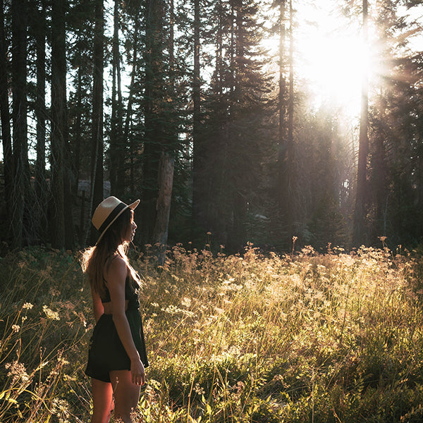 Girl Traveling in Sequoia National Park