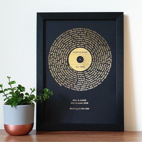 Custom Song Lyrics Art - Valentine's Day Gift Guide by Roam Often - Gifts for her, Gifts for your girlfriend