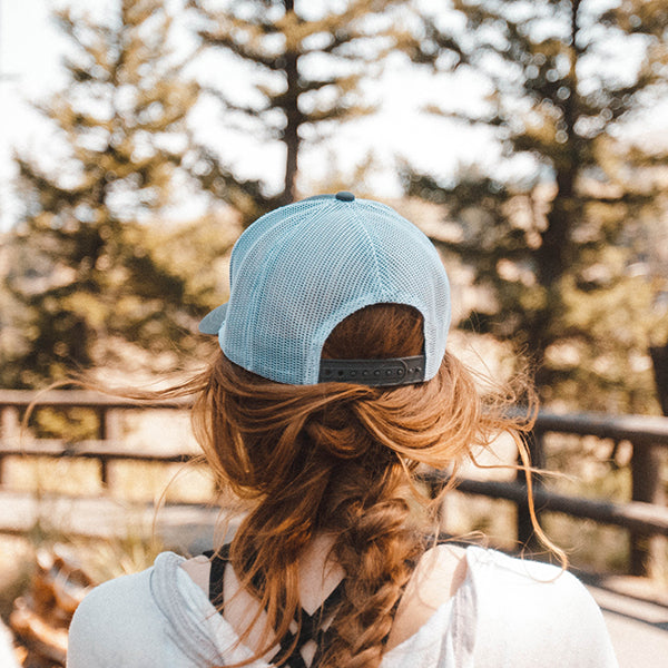 Girl Traveling in Yellowstone National Park