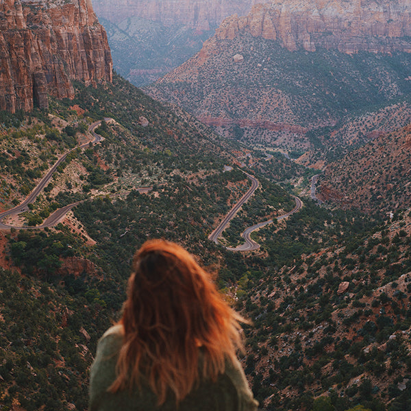 Girl Traveling in Zion National Park