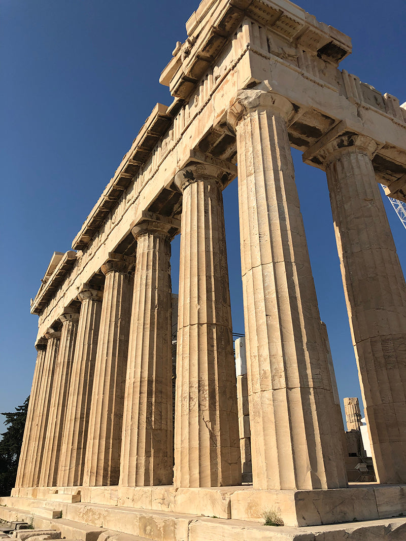 Columns of Acropolis in Athens Greece