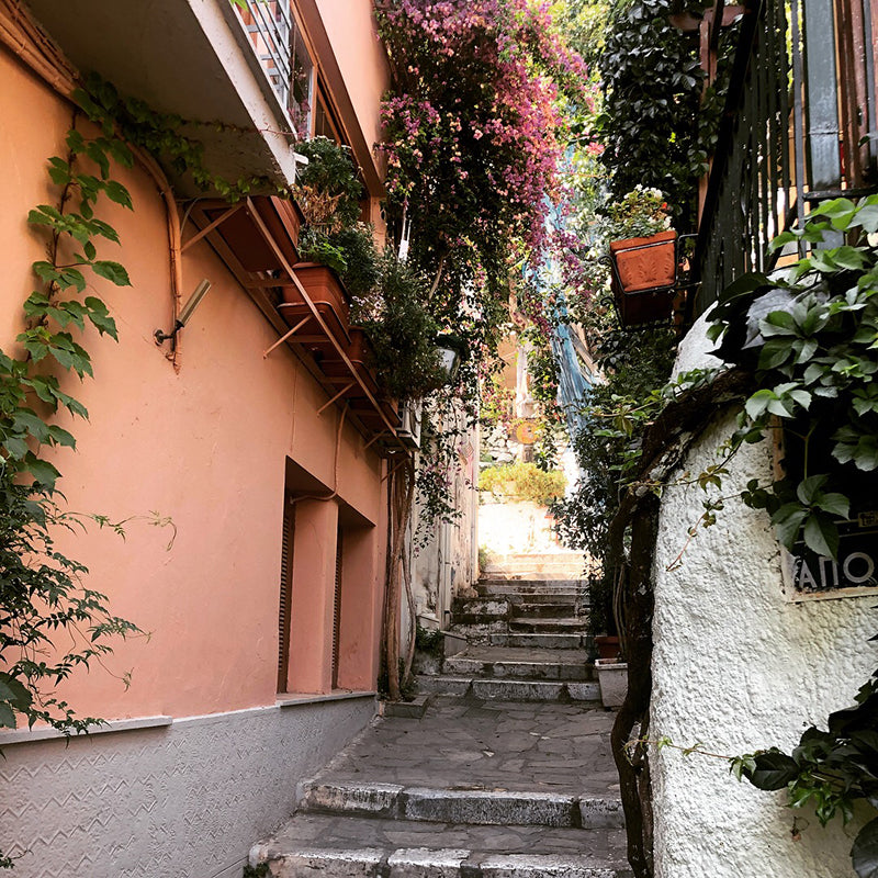 Plaka stairs in Athens, Greece