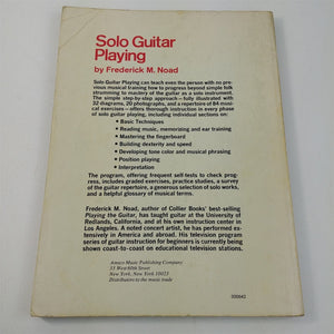 Solo Guitar Playing Frederick Noad Complete Course Techniques Guitar Performance