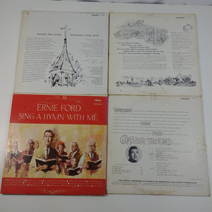 Record LP Lot of 4 - Tennessee Ernie Ford Nearer The Cross Hymnal Lusty Land