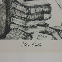 Load image into Gallery viewer, The Oath Charles Bragg Jurisprudence A Suite of Etchings