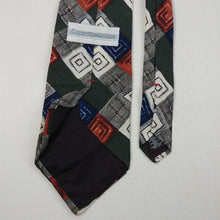 "Load image into Gallery viewer, Tie Mens Necktie Courregeshomme Geometric 3-7/8"" Widest Part x 57"" Length"
