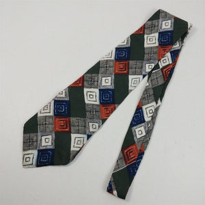 "Tie Mens Necktie Courregeshomme Geometric 3-7/8"" Widest Part x 57"" Length"