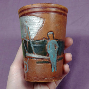 Argentina Leather w/ Felt Cup Celebrating Mayor Zanni Ciudad de Buenos Aires