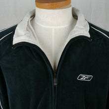 Load image into Gallery viewer, Reebok Black & White Full Zip Sports Jacket Athletic Wear Sweatshirt Mens Sz XL