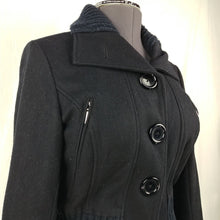 Load image into Gallery viewer, Vero Moda Black Wool Button Up Long Sleeve Lined Jacket Womens Size 10
