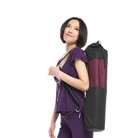 1Pcs Nylon Sport Fitness Yoga Mat Bag Pilates Mats Carrier Bag Mesh Center Adjustable Strap Case Portable Gymnastics Mat Bag