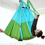 Anti-gravity Aerial Yoga Hammock Set Multifunction Yoga Belt Flying Yoga Inversion Tool for Pilates Body Shaping with Carry Bag