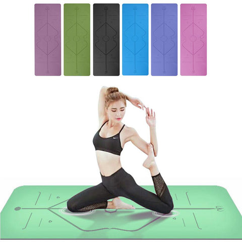 1830*610*6mm TPE Yoga Mat with Position Line Non Slip Carpet Mat Gym Pads Environmental Fitness Gymnastics Mats For Beginner