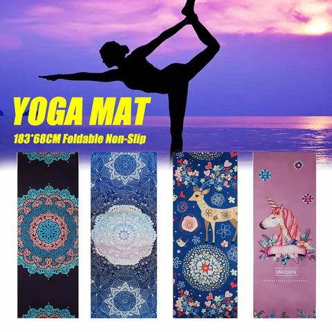 68*183cm Non Slip Yoga Mat Microfiber Towel Fitness Gym Exercise Fitness Pilates Workout Blanket
