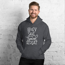 Load image into Gallery viewer, The Limited Edition Work, Save, Travel, Repeat Unisex Hoodie