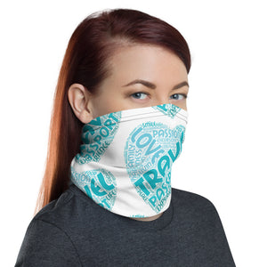 Love, Travel, Passport Neck Gaiter
