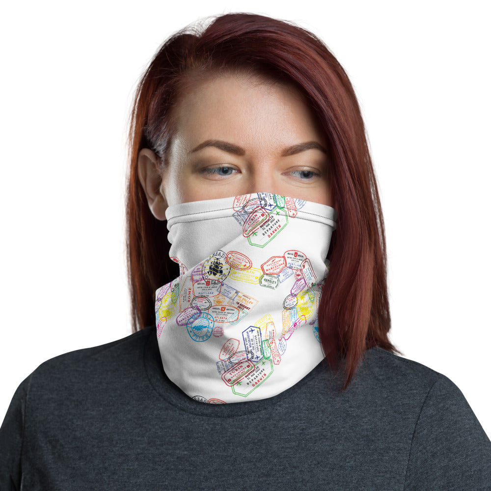 Passport Stamp Neck Gaiter