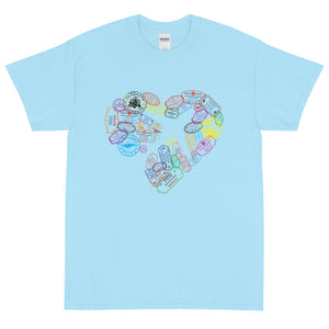 The Limited Edition Passport Stamps Short Sleeve T-Shirt
